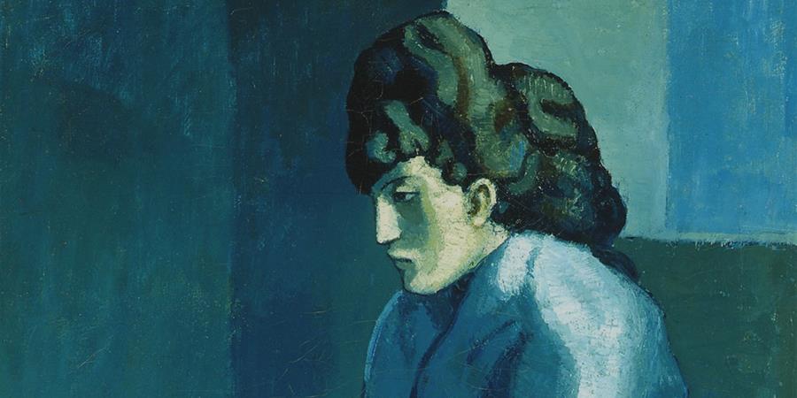 Image credit: Femme Assise (Melancholy Woman) (detail), Pablo Picasso, 1902-1903, Detroit Museum of Art, Detroit, Michigan.