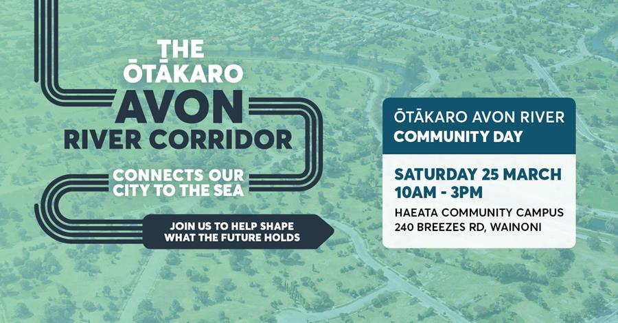 Banner for The Otakaro Avon River Community Day (25th March 2017).