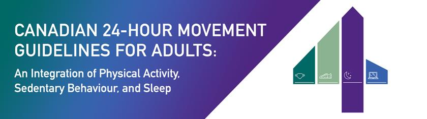 24-Hour Movement Guidelines for Adults banner