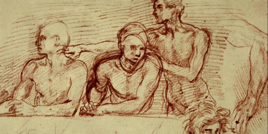 Image credit: Last Supper Study (detail), Andrea del Sarto, 1520-1525, Uffizi Gallery, Florence, Italy.