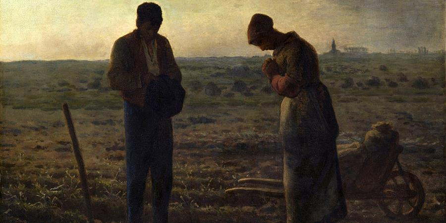 Image credit: The Angelus (detail), Jean-François Millet, 1857–1859, Musee d'Orsay, Paris, France.