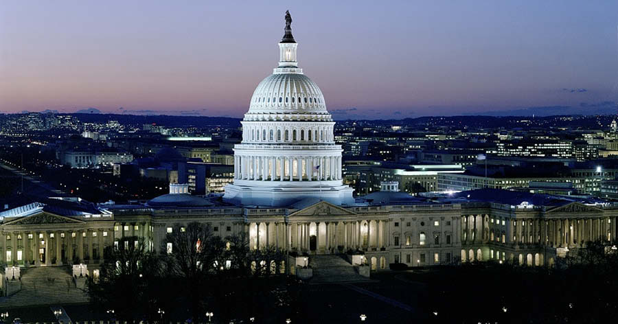 Aerial View of the US Capitol
