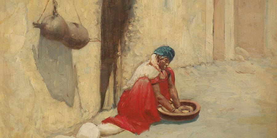 Image credit: Algerian Woman Preparing Couscous (detail), Vincent Manago (1880–1936).