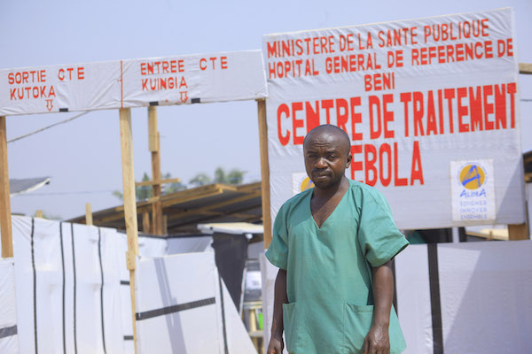 Doctor at Ebola treatment center