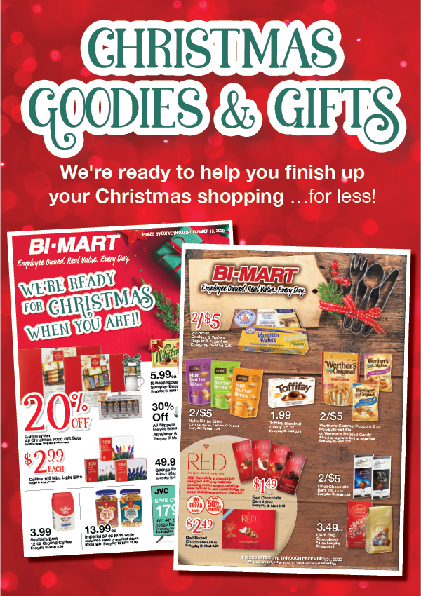 We ready to help you finish up your Christmas shopping …for less!