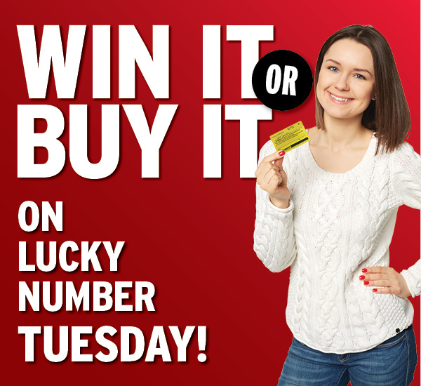 Win It or Buy It on Lucky Number Tuesday! September 15, 2020