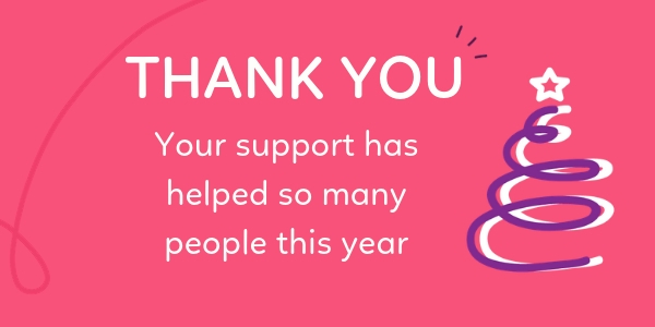 Thank you for your support this year