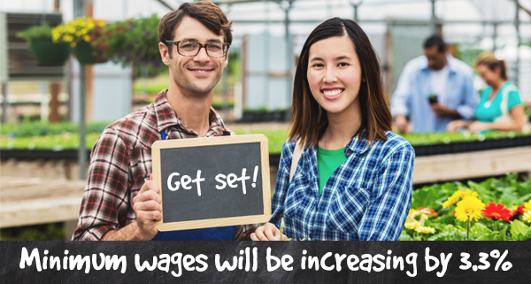 Get set, minimum wages are increasing by 2.4%