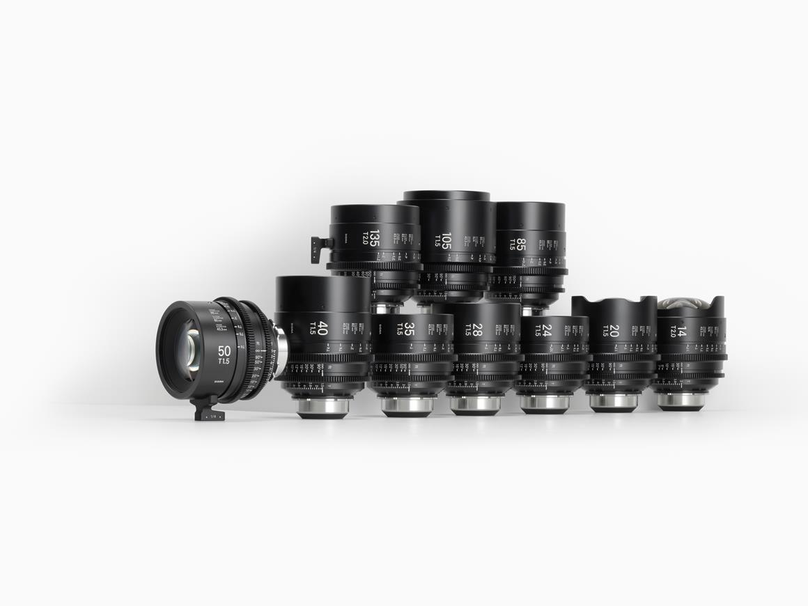 Sigma FF High Speed Prime Line with support for Cooke Optics' /i Technology communication protocol