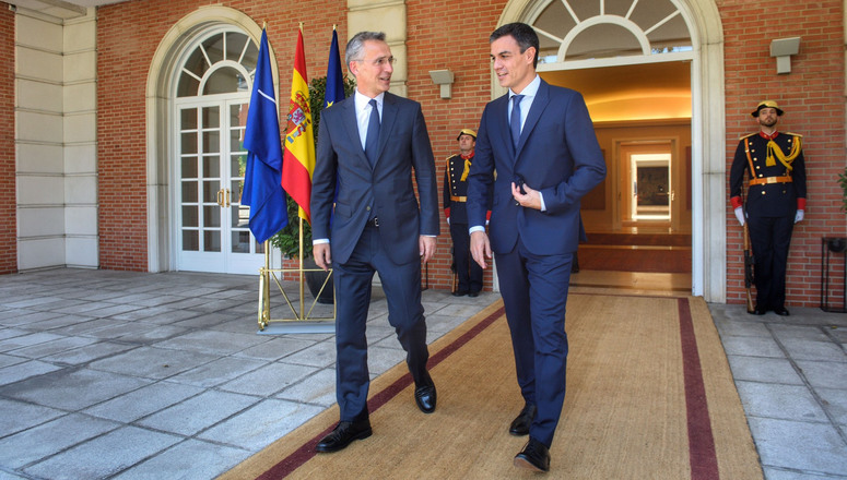 NATO Secretary General discusses preparations for the NATO Summit with Prime Minister Pedro Sánchez
