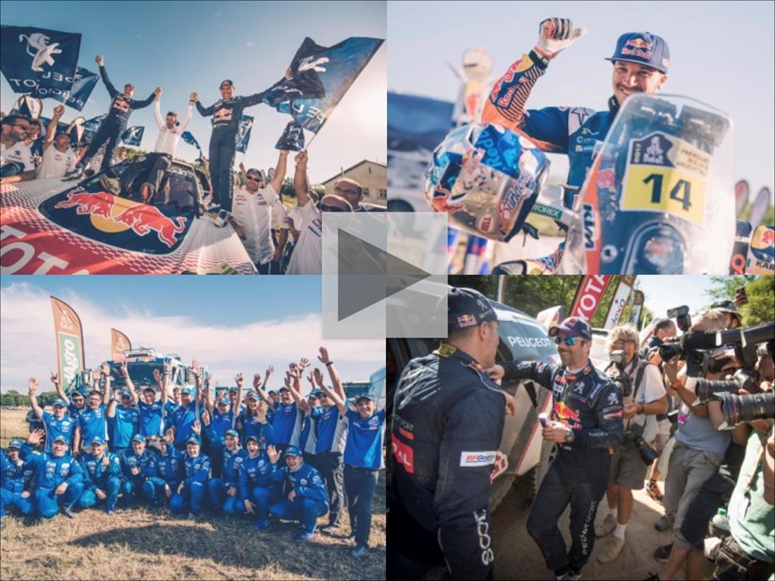 clockwise) Stéphane Perterhansel, Sam Sunderland, Sébastien Loeb & Team Kamaz Master © Flavien Duhamel/Red Bull Content Pool