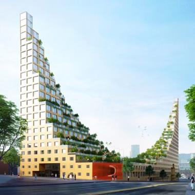 Housing development based on Hanging Gardens of Babylon proposed for Birmingham