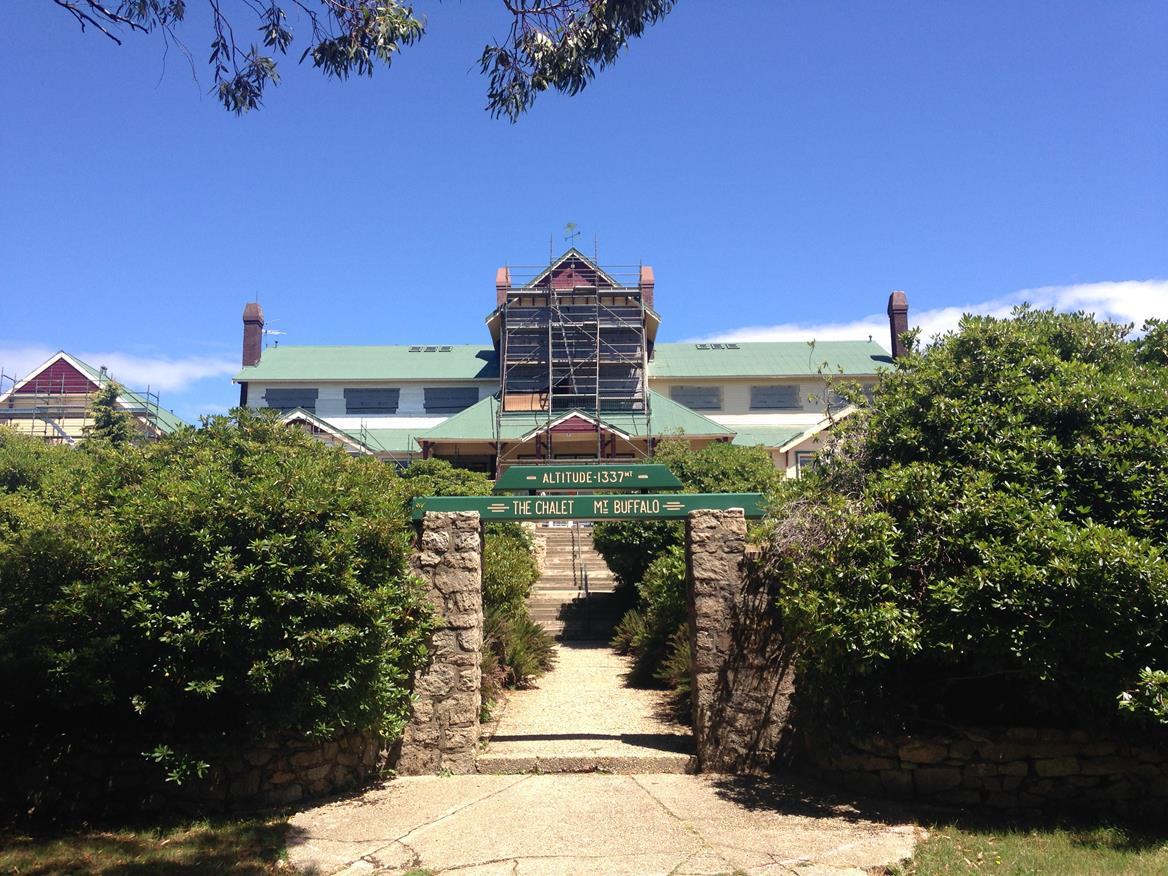 Entrance to Mount Buffalo Chalet