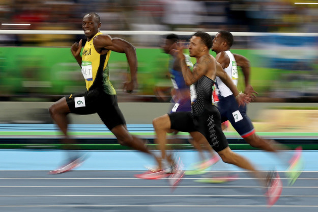 This photo proves just how unfair Usain Bolt's dominance is.