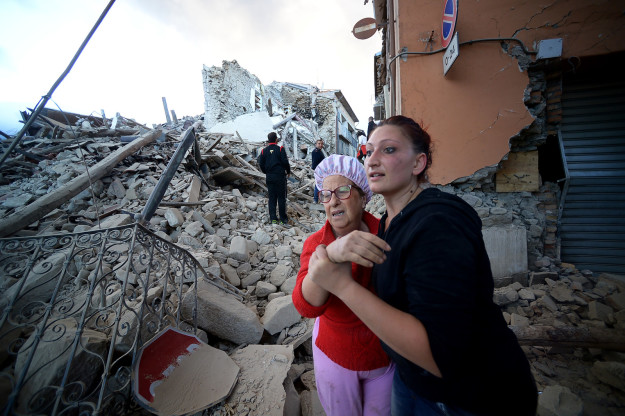 Rescue workers begun digging people free of the rubble first thing Wednesday.