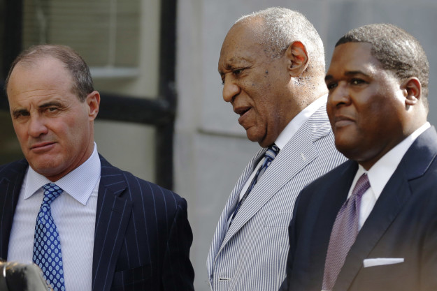 Bill Cosby leaves the courthouse in 2016.