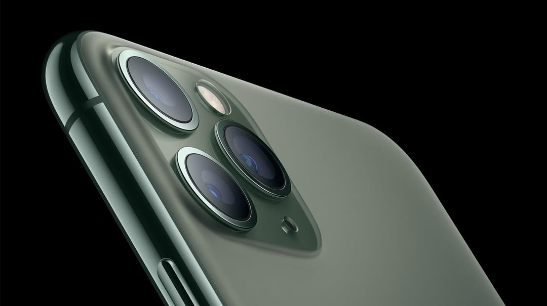 iPhone 11 Pro in midnight green.