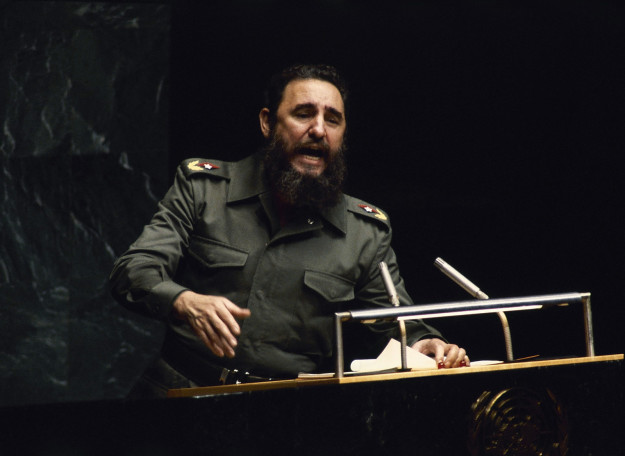 Fidel Castro at the UN General Assembly in 1979. Associated Press