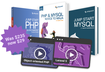 90% off the ultimate PHP and MySQL bundle!
