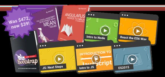 Save $433 on the ultimate full stack JavaScript bundle!
