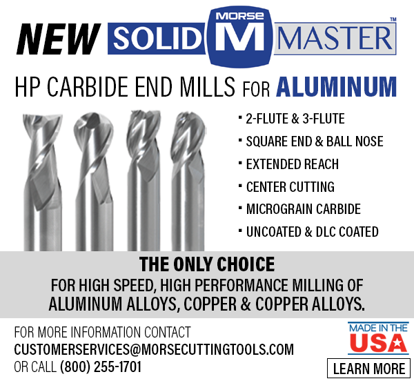 New HP End Mills for Aluminum