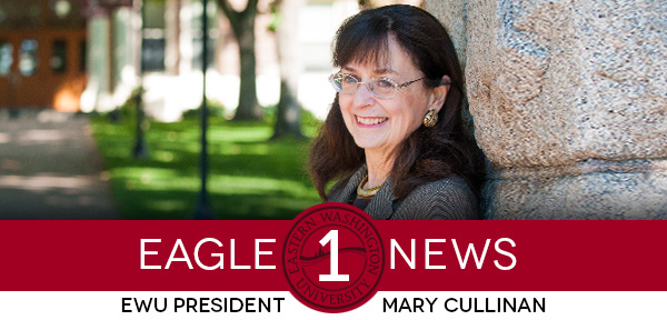 Graphic: Eagle 1 News, EWU President Mary Cullinan