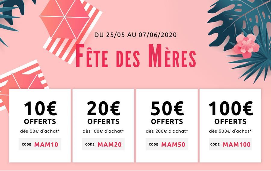 Fête des mères jusqu'à 100€ offerts