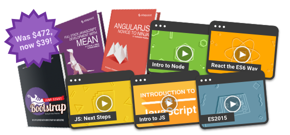 Save $433 on the ultimate full stack JavaScript bundle!