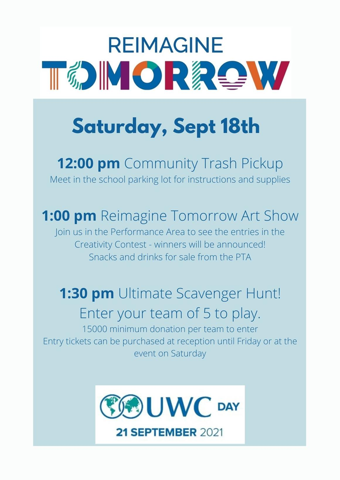 UWC Day Celebration on Arusha Campus – Saturday 18th September