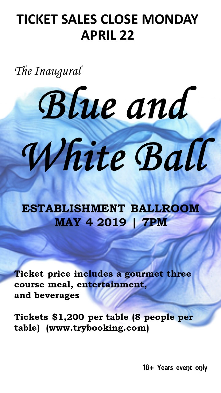 Blue and White Ball, 4 May